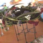 雑誌の撮影で制作した生花アレンジメント その3