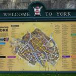 York in England,- aber nicht per Rad, sondern mit dem Zug erreicht.