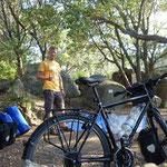 Zelten im Wald,- auch gut