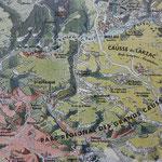 Übersichtskarte der durchfahrenen Gegend