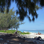 bis zum entspannenden Teil an den Strand.