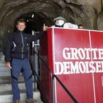 Grotte des Demoiselles,- mit dem Bähnle hinein