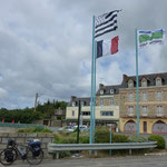 Die Bretonisch Flagge (schwarz weiß)