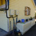 Installation einer fast autark betriebenen Hütte in den Vulkanbergen