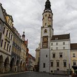 Das Wahrzeichen von Görlitz das Rathaus Mitte 14. Jahrhundert