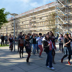 Action beim Zumba-Flashmob