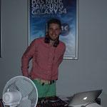 Der DJ in seinem Element