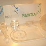 Plexiglas - gedrehte Teile