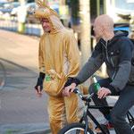 Selbst ein Känguru auf Rädern fuhr mit  (Foto: http://criticalmass-hh.de) und