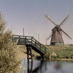 De Molen van Sint Pancras was voor de ruilverkaveling vanaf de Twuyverweg via een brug te bereiken.
