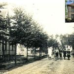 De Bovenweg omstreeks 1920, ter hoogte van de woning van burgemeester Kroonenburg (inzet). In 1912 wordt het huis gebouwd door timmerman Anthonie Kroonenburg, voor zijn zoon Jacob Kroonenburg, die er na zijn huwelijk met Neeltje Duif, gaat wonen.