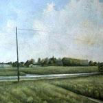 Dit schilderij van het Daalmeerpad is te bewonderen in de orgelzaal van Cor Booy.