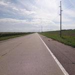 Highway 20 - gestern 4-spurige Autobahn, jetzt leere Landstrasse