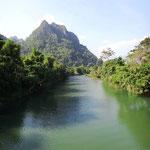 Idyllische Umgebung um Vang Vieng