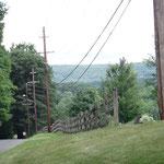 Schöne Aussichten auf die Hügel in Pennsylvania