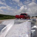 Beispiel eines der vielen riskanten Überholmanöver auf Highway 20