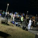 Public und Open Air Aerobic an der Hafenpromenade
