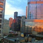 Sonnenuntergang vom Hotel Courtyard Marriott Hubbard St