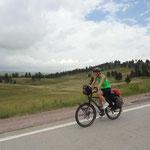 Auf dem Weg nach Custer durch Wind Cave Parrk