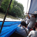 Eine Bootsfahrt auf dem Kanal