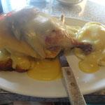 Zum Z'Nacht: Roasted chicken, mashed potatoe und Unmengen Gravy drüber