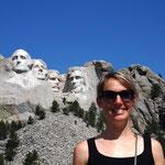 Ich mit Washington, Jefferson, Roosevelt und Lincoln