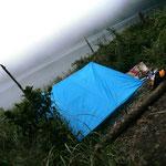 Schlafplatz - mit Agoun im selben Zelt