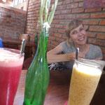 Feine Säfte im Soma Café zur Erfrischung