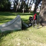 City Park in Merriman - mein Schlafplatz für heute