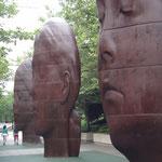 Jaume Plensa Portraits in Millenium Park