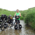 Detour through river - so much fun and cooling