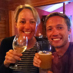 Kalter Wein und kühles Bier mit Valentin