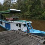 Im Tanjung Puting National Park mi 'unserem' Boot