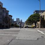 Katja in den Strassen von San Francisco