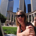 Lese-Pause in Grant Park