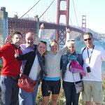 Grosse Überraschung und Empfangskommittee: Luis, Philipe, Katja, Sara und Dani
