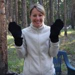 Socken als Handschuhe - Not macht erfinderisch
