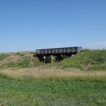 Alte Brücke der Cowboy Line Zuglinie