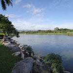 Aussicht vom Hotel auf den River Kwai in Kanchanaburi
