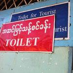 WC für 200 Kyats für Touristen