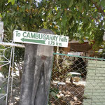 Auf zu weiteren Wasserfällen - inklusive Kampfhahn im Vorgarten