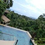 Wunderschöne Aussicht von der Terrasse