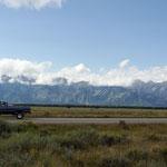 Schöne Bergkette in Grand Teton