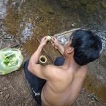 Zeit fürs Mittagessen - Supper im Bambusrohr