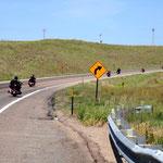 Bikers auf dem Weg nach Sturgis, SD