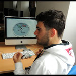 Andrea ha fatto un primo progetto per il concorso del Bicentenario dei Carabinieri : un orologio