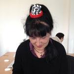 La prof. Artizzu si è messa in testa ... un braccialetto stampato in 3D