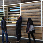 I tre prof. Cualbu, Cucca e Artizzu dissertano sul sistema in facciata dell'edificio 2/Polaris ... solita deformazione professionale