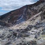 Im Krater des Cerro Negro, dem jüngsten Vulkan Nicarguas. Erst 1850 entstanden.....