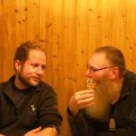 Marko Pfeiffer und Wilfried Löffler tauschen sich aus